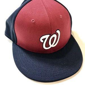 Washington Nationals Baseball Cap Red and Navy New